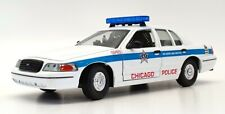 Classic Metal Works 1/24 Scale 1-04057 - Ford Police Car Chicago - White