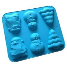 Santa Claus Christmas Tree Snowman Silicone Soap Mold Craft Art Resin Cake Molds