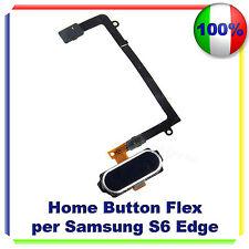 TASTO CENTRALE HOME BUTTON COMPLETO FLEX PER SAMSUNG S6 EDGE G925F BLU SCURO