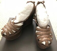 AUTHENTIC Bottega Veneta size 39 Wedge/Platform Sandals Cigar/Brown color