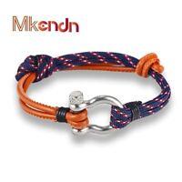 Fashion Jewelry navy style Sport Camping Parachute cord Survival Bracelet Men wi