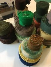 24 Rolls Of 100% Wool. 2.5� Strips. Arrorted Colors.