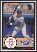 1990  DAVE WINFIELD - Kenner Starting Lineup Card - NEW YORK YANKEES - Blue