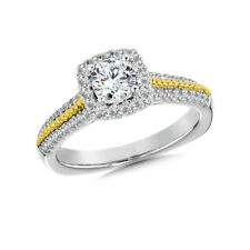 1.10 Ct Certified Real Diamond Engagement Ring Hallmarked 14K White Gold Size M
