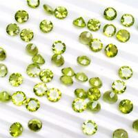 Wholesale Lot of 5mm Round Facet Cut Natural Peridot Loose Calibrated Gemstone