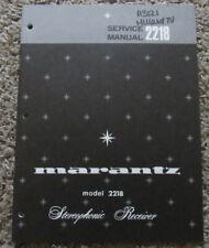 MARANTZ 2218 STEREOPHONIC RECEIVER ORIGINAL SERVICE REPAIR MANUAL
