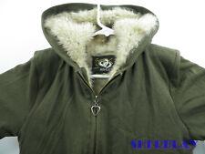 Girls Ashley Brown Jacket Coat Zip up Hoodie Style Rare Faux Fur Linning M/M