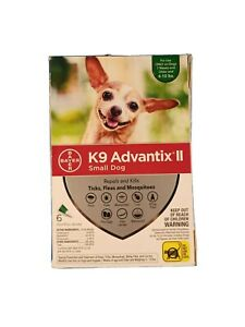 NEW K9 Advantix II Flea and Tick Prevention for Small Dogs 6 Doses - 4-10 lbs
