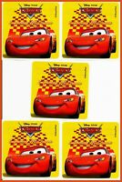 Cars Stickers x 5 - Cars Stickers Disney Lightening McQueen - Birthday Party