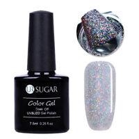 UR SUGAR Nail Art UV Gel Polish Holographic Silver Sequins Soak Off Gel Varnish