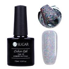 Nail UV Gel Polish Holographics Silver Sequins Soak Off Gel Nail Art Decor UR-01