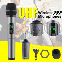 K380D UHF Wireless bluetooth Microphone Karaoke System Handheld Mic Receiver USB
