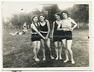 Bademode der 1930er - Mädchen Junge Frau - Altes Foto