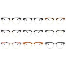 Retro Mens Womens Half Frame Plain Clear Lens Glasses Fashion Eyeglasses New