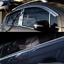 Stainless Chrome Window Vent Visor Under Molding 8P for KIA 2005-2010 Sportage
