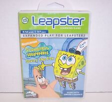 NEW! LeapFrog Leapster Learning Game SpongeBob SquarePants Saves the Day {2909}