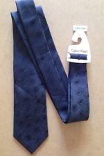 Calvin Klein da uomo misto seta cravatta nuova con etichetta GRIGIO / Dandelion CLOCK