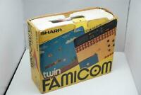 Sharp Twin Famicom console black AN500B boxed Japan system US seller please read