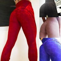 Women Yoga Push Up Pants Fitness Leggings Stretched Skinny Sports Gym Trousers