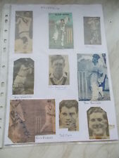 9 Original Autographs Obtained Between 1960 - 1962 Of MIDDLESEX C.C.C.