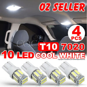 4X T10 7020 SMD 10LED WHITE W5W WEDGE TAIL SIDE CAR LIGHTS TURN PARKER BULB