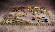 More details for britains pre war lead home farm series hurdles milk maids horses sheep cows pigs