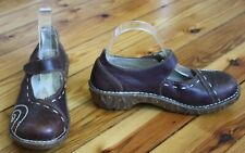 El Naturalista 39 Brown Leather Clogs Mary Jane Yggdrasil N095 Spain