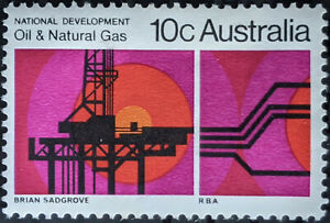 Stamp Australia SG472 1970 10c Oil and Natural Gas Mint Hinged
