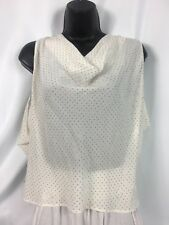 * bebe * Cream Gold Studded Cowl Top Silk Blouse NWT Sz. XS MSRP $89.00!