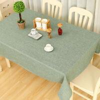 Leinenoptik Tischdecke Gartentischdecke Fleckschutz Abwaschbar Tuch Tischwäsche