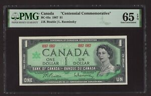 "Canada 🇨🇦 1967 - $1 ""Centennial Commemorative"" - PMG Gem UNC 65 EPQ"