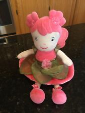 Anne Geddes Beginnings Plush Baby Fairy Princess Doll Lovey Coral Pink