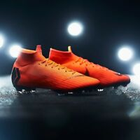Nike Mercurial Superfly 6 360 Elite FG ACC Flyknit Orange Uk Size 7 AH7365-810