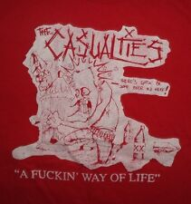 The Casualties band ***SMALL*** t-shirt Red screen printed