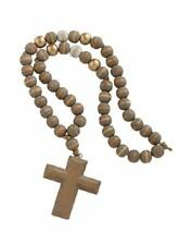 Mud Pie Cross Pendant Dcorative Decorative Beads Grey, Gold