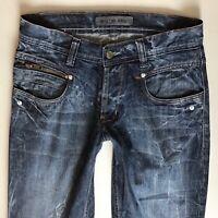 Mens G-Star 3301 Straight Leg Dark Blue Jeans W30 L32 (516)