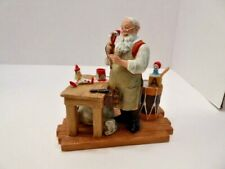 """The Real Santa"" Norman Rockwell Family Trust Figurine 1st Issue Nib w/ Coa"