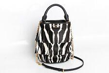 ❗️ NEW Burberry Prorsum Fringe Zebra Print Bucket Bag Retail $2495 Authentic