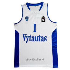LaMelo Ball #1 LiAngelo Ball Lithuania Vytautas Basketball Jersey Stitched White