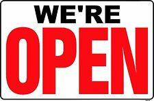 WE'RE OPEN (Back side is CLOSED) 24x36 Heavy Duty Plastic Sign OP-8