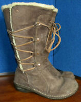 UGG 5158 Brown Suede Leather Lace Boots Women's Size US 8