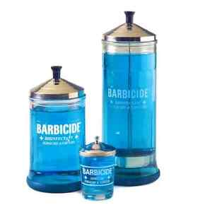 Barbicide Disinfecting Jars and Solution oz Salon Barber  Hospital Clippercide