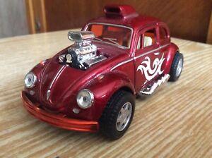 Volkswagen Beetle Custom Dragracer 1:32 scale KiNSMART toy model cast metal car