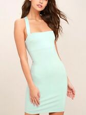 New Sexy Chic Light Green Mint Bodycon Sleeveless Dress size L