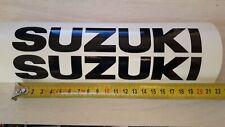2x Stickers de reservoir SUZUKI Noir BRILLANT