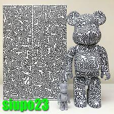 Medicom 400% + 100% Bearbrick ~ Keith Haring #04 Version Be@rbrick
