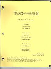 "TWO AND A HALF MEN script ""The Crazy Bitch Gazette"""