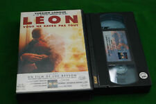LEON  luc besson - uncut 20mins extra  VIDEO VHS video  label deleted video