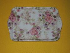Ambiente 1x Tablett Rosen Blumen Melamin 13 x 21 trays rosa Madeline