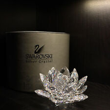 Swarovski Water Lily Candle Holder Item # 7600 Nr 123 Mc with Coa and Box